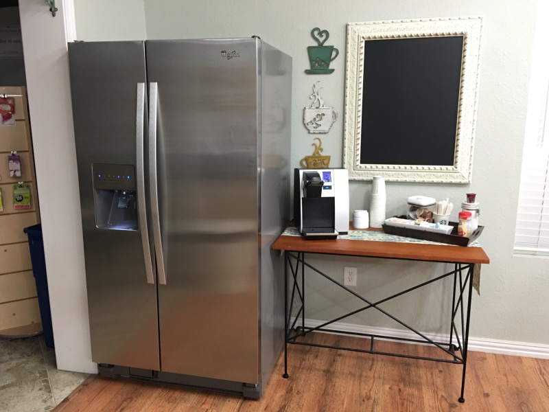 Full Size Refrigerator in McKinney Craft Room